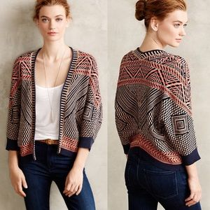 Anthropologie Moth Jacquard Circle Sweater XL